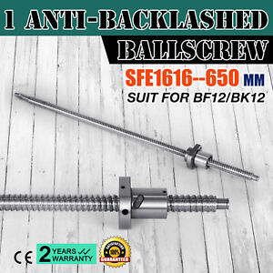 Anti Backlash Ballscrew Sfe1616 650mm Bkbf12 Cnc Set 25 6inch Ball Nut Brand New