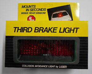 Nos Vintage Rear Window Mount Third Brake Light Collision Avoidance Light