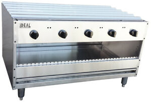 New 48 Over Fire Infrared Broiler 5 Burners Made In Usa By Ideal Price Reduced