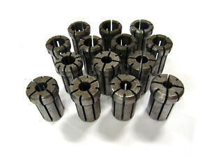 Da 180 Collets Inch Lot Of 14 Mill Toolholding Workholding