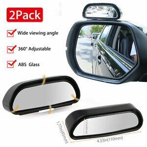 2pcs Universal Car Auto 360 Wide Angle Rear Side View Convex Blind Spot Mirror