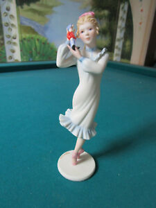 Cybis Dancing Girl Ballerina Pink Shoes Figurine 6 Cybis