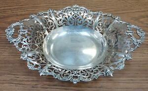 Theodore B Starr Sterling Silver Floral Basket Dish 7226