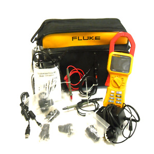Fluke 345 Pq Clamp Meter Tester With Carrying Case And Accessories