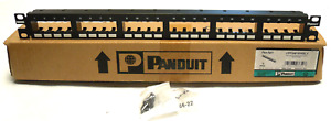 New In Box Panduit Cpp24fmwbly Mini com 24 Port Flush Mount Patch Panel