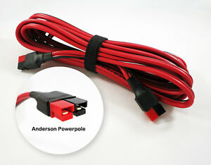 Anderson Powerpole Sermos Extension Jumper Cable 15 Foot 45a Cord 12awg Amp