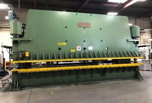 26 Foot Pacific Press Brake Model 500 26 S n 3597 500 Ton Great Condition