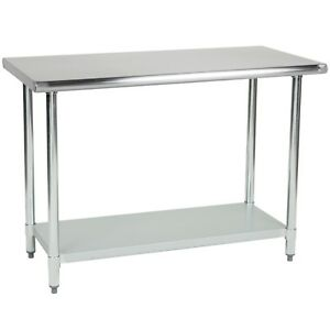 Commercial Stainless Steel Prep Work Table 30 X 12 Nsf