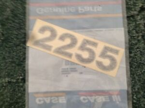1329571c1 A New Model Designation Decal For A Caseih 2255 Front End Loader