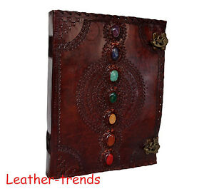 Seven Stone Leather Journal Diary Seven Chkra Leather Book Organizer Day Planner
