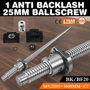 1 Anti Backlash 20mm Ballscrew Sfe2020 1600mm c7 bk bf15 End Support Bearing Cnc