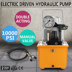 Electric Driven Hydraulic Pump Double Acting High 70mpa 2 Stage 488in3 Cap