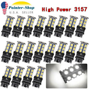 20pcs White 3157 3156 High Power 5050chips 24smd Led Interior Back Up Reverse