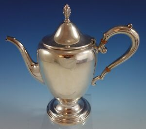 Frank Whiting Sterling Silver Tea Pot Colonial Style 704 10 X 9 1 4 2660