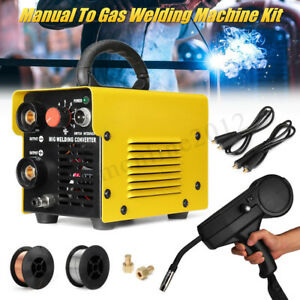 Mig 200 Diy Manual Welder To Gas Welding Machine Arc Shielded Spool Gun Inverter