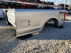 2017 2019 Ford F250 Superduty Silver 8ft New Take Off Bed W lights No Gate Long