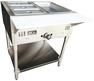 Commercial Gas 2 Well Bain Marie Steam Table Made In Usa By Ideal Etl Listed