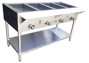 Commercial Gas 4 Well Aerohot Steam Table Made In Usa By Ideal Etl Listed