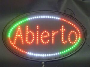 Led Sign Open In Spanish Abierto