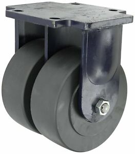 Rwm Casters 2 95 Series Plate Caster Rigid Dual Wheel Kingpinless Heavy Duty