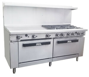 New Commercial 72 Range With 6 Burners 36 Griddle Etl Made In Usa By Ideal