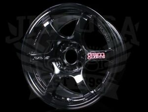 Rays Gram Lights 57dr Wheels Gloss Black 15x8 4x100 35 Honda Acura Miata Civic