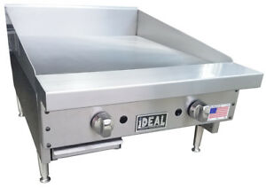 New 24 Commercial Flat Griddle Plate By Ideal Made In Usa Nsf
