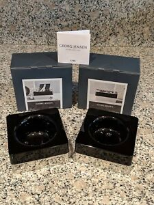 Georg Jensen Cube Holder Set 2 Pieces new In Box