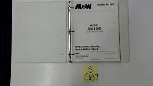 M w 5600 5690 Round Baler Operator Manual Parts List Technical Manual