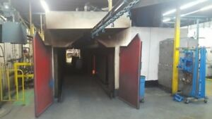 Powder Coating Oven With Dry Off Section 146 Of I beam Conveyor Drive