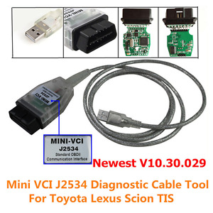 Mini Vci Diagnostic Tool Cable Scanner For Toyota Lexus Tis Techstream V10 30 29