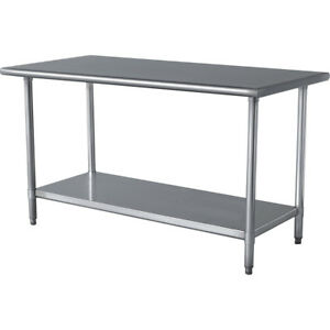 Commercial Stainless Steel Work Table 24 X 15 Nsf
