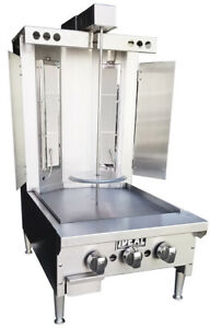 New Commercial 18 Gyro Broiler Taco Al Pastor With Griddle Made In Usa By Ideal