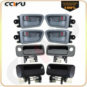 4 Inside 4 Outside Front Rear Door Handles Set Of 8 For 1997 2001 Toyota Camry