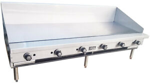 New 72 Commercial Flat Griddle Plate By Ideal Made In Usa Nsf
