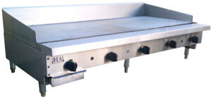 New 60 Commercial Flat Griddle Plate By Ideal Made In Usa Nsf Etl Approved