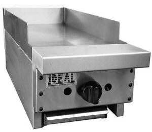 New 12 Commercial Flat Griddle Plate By Ideal Made In Usa Nsf Etl Approved