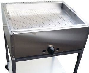 Taco Cart 27 Double Steam Table With Perforated Pan Made In Usa Ekono Brand