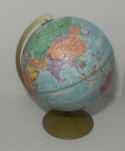 Replogle World Series Globe 12 Vintage Topographical 1984 Ussr