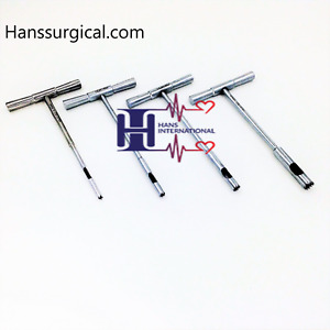 4 Pec Set Hollow Mill For Removal Of Bone Screws Extractor Orthopedic Instrument