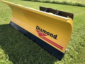 6 Snow Plow Quick Attach Skid Steer Tractor Plow Diamond Trip Edge W shoes