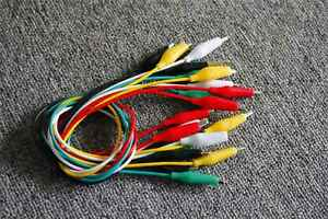 10 20 30 50pcs Double ended Crocodile Clips Cable Alligator Clips Wire Testing