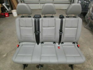 16 17 18 19 Mercedes Benz Metris Van Aftermarket Gray Leather 3 pass Bench Seat