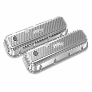 Holley 241 301 Polished Vintage Series Finned Valve Covers For Big Block Chevy