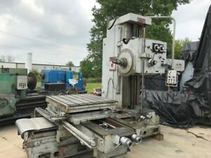4 Ceruti Table Type Horizontal Boring Mill Rotary Table 50 Taper Spindle