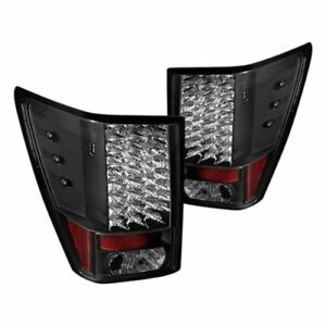 Spyder 5070197 Black Led Tail Lights Set Of 2 For 2007 2010 Jeep Grand Cherokee