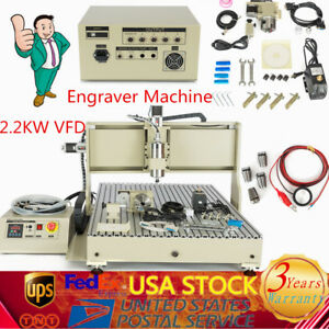 Usb 4 Axis 6090 Cnc Router Engraving Engraver Milling Drilling Machine 2