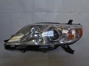 2011 2012 2013 Toyota Sienna Left Headlight Halogen Chrome Bezel