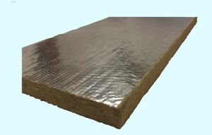 Mineral Wool Sheets 48 X 24 High Temperature Foil Back Insulation Density 8