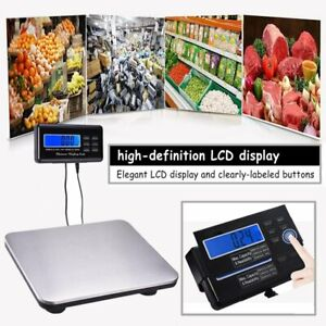 200kg 440lbs Lcd Ac Digital Floor Bench Scale Postal Platform Shipping Pet Be